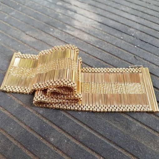14 Ayar Altın Hasır Model Bileklik