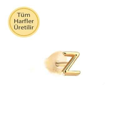 14 Ayar Altın Z Harfli Küpe - Thumbnail