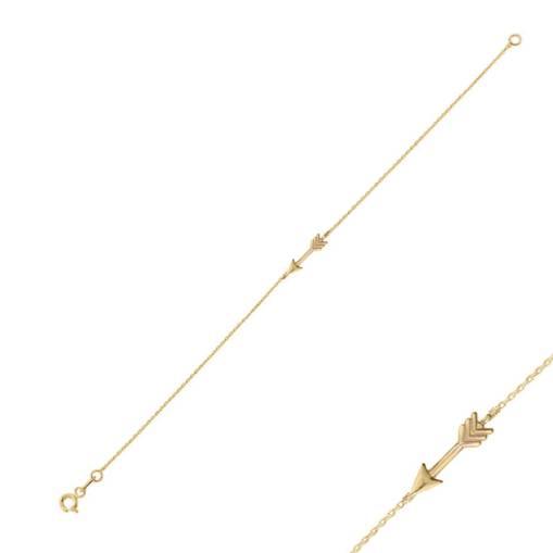 14k Altın Ok Arrow Bileklik